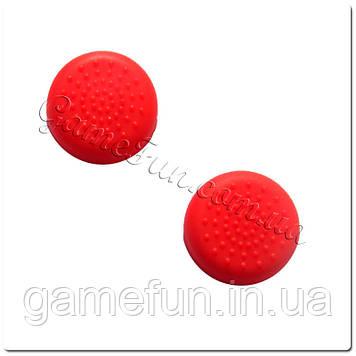 Силіконові накладки на ручки аналогів PS 4 (Red)(2шт)