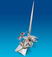 Письменный набор Сваровски Лилия с покрытием серебром