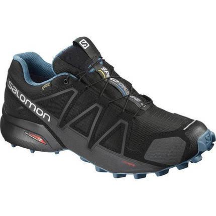 Мужские кроссовки Salomon SPEEDCROSS 4 GTX (Gore-Tex®) NOCTURNE 2 (404757) черные, фото 2