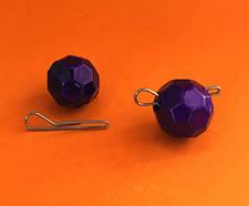 """Граненый фиолетовый груз """"Fishball"""" разборный (зип-пакеты)"""