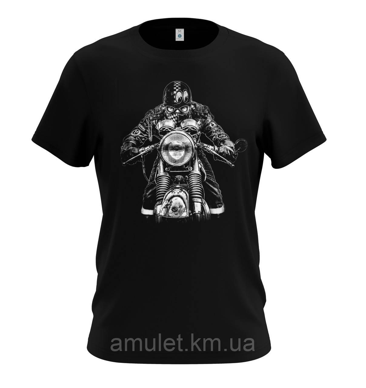 "Мужская молодежная футболка  ""Old school biker"""