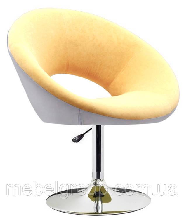 Кресло мягкое Берлино бело-бежевое