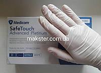 Нитриловые перчатки белые неопудренные (100шт/уп) Медиком SafeTouch Platinum White