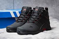 Зимние кроссовки на меху Adidas Climaproof, черные (30761),  [  44 (последняя пара)  ]