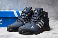Зимние кроссовки на меху Adidas Climaproof, темно-синий (30762),  [  41 (последняя пара)  ]