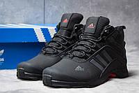 Зимние кроссовки на меху Adidas Climaproof, черные (30763),  [  43 (последняя пара)  ]