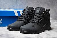 Зимние кроссовки на меху Adidas Climaproof, черные (30764),  [  44 (последняя пара)  ]