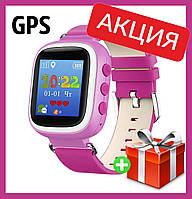 Детские смарт-часы Q80 с GPS трекером. Smart Watch  детские смарт часы розовые