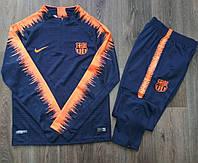 Детский костюм тренировочный Барселона сезон  2017-2018 (сине-оранжевый), фото 1