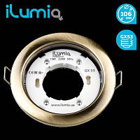 Светильник встр. кругл. Ilumia 052 RL-GX53-90-Antique Brass под лампу GX53, 105мм