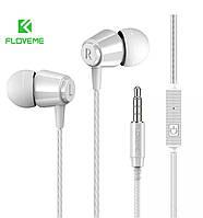Наушники-вкладыши Floveme проводные HiFi Stereo 3,5 mm с микрофоном (белый), фото 1