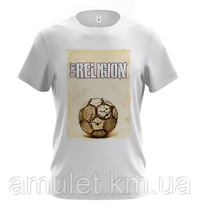 "Мужская молодежная футболка   ""Football - Its my religion"", фото 2"