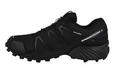 Мужские кроссовки SALOMON SPEEDCROSS 4 (383130) черные, фото 3