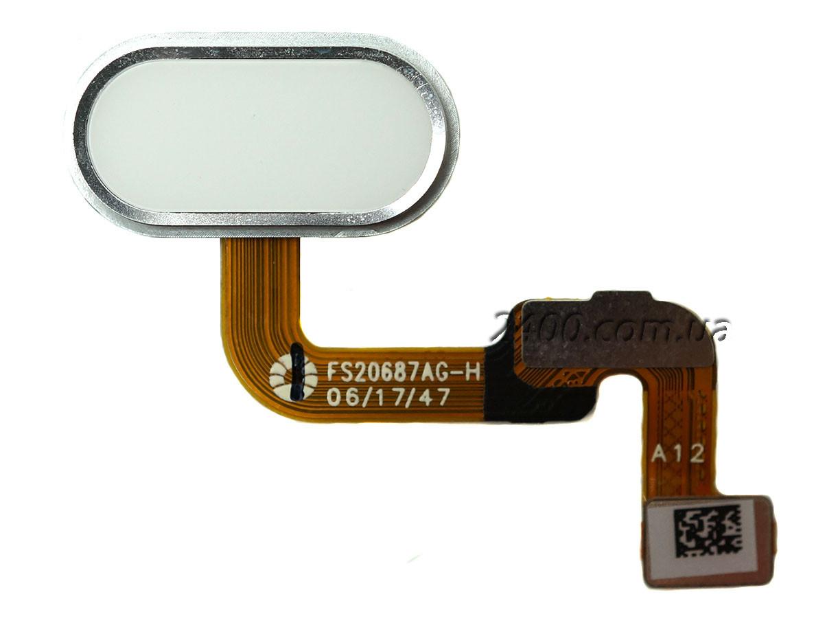 Cенсорная кнопка для Meizu M6 Note белая – кнопка меню мейзу м6 ноте