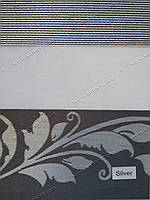 Рулонные шторы День-Ночь Миракл серый блеск