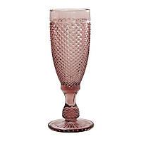 """Набор бокалов 6 шт для шампанского """"Амбер"""" розовых 150 мл, 34215-15-3"""