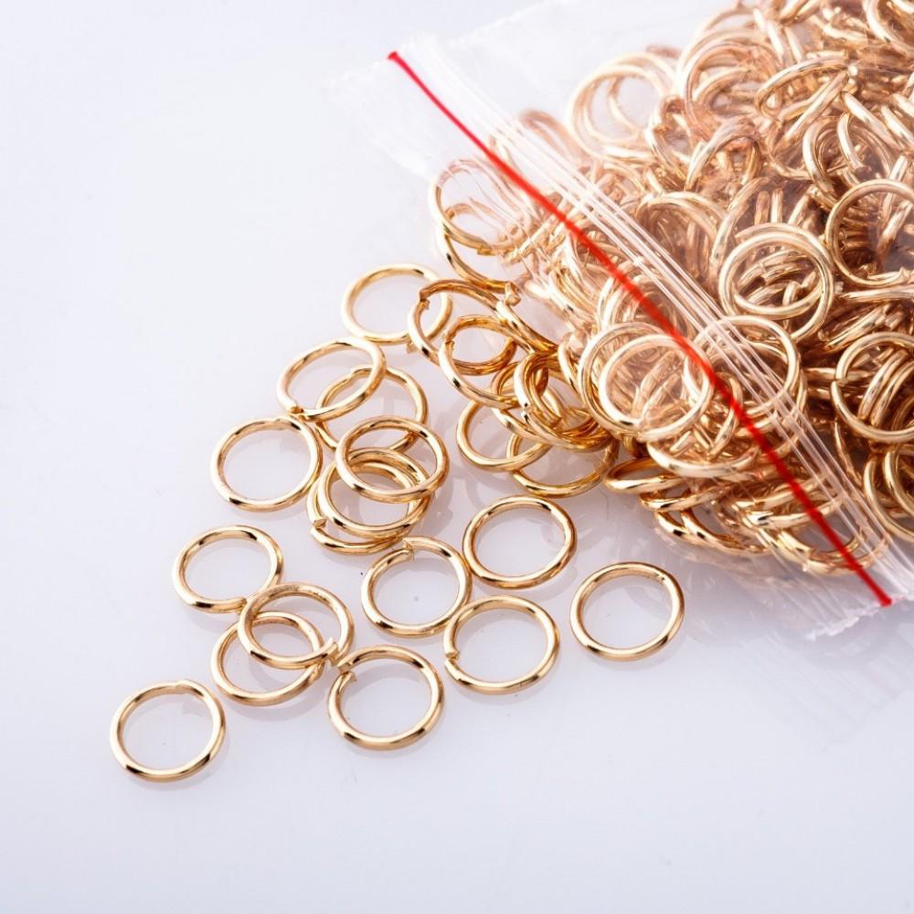 Фурнитура соединительное кольцо, диаметр 5mm пачка 15 гр. цвет золото
