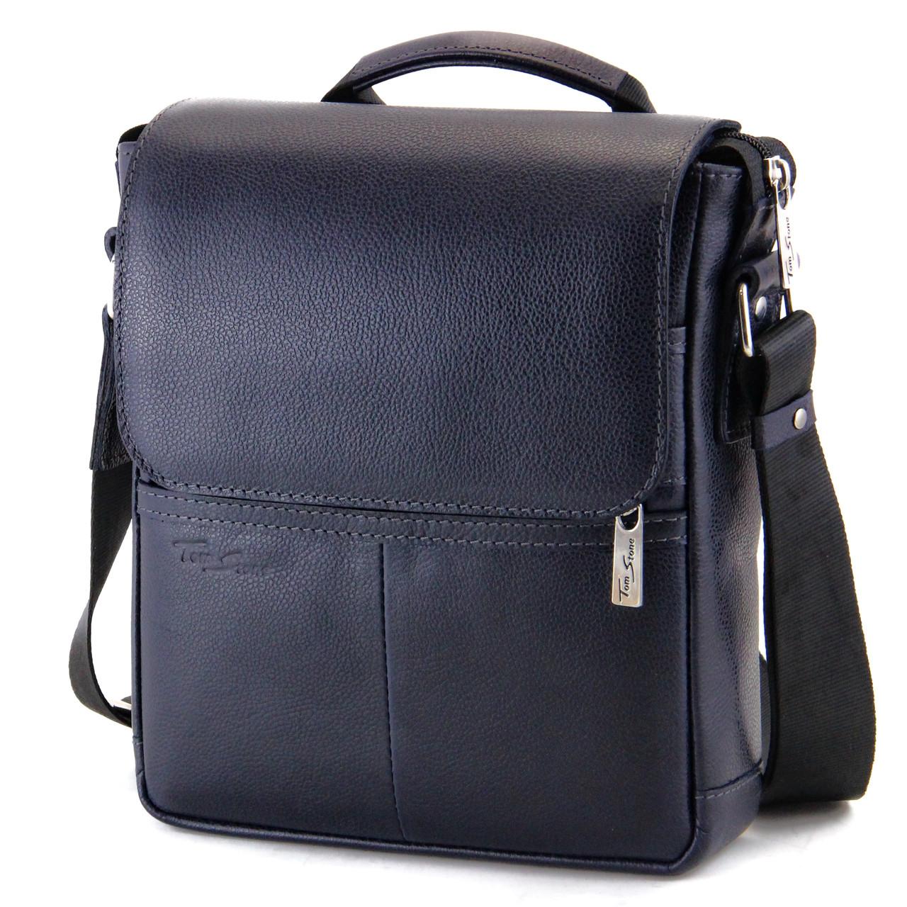Кожаная мужская сумка с ручкой Tom Stone