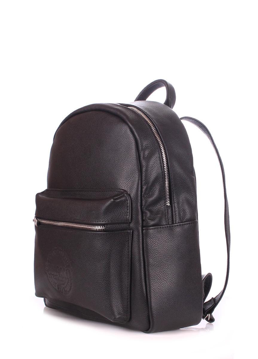 5d694f18fea1 Рюкзак жіночий шкіряний чорний / Рюкзак женский кожаный чорный Poolparty Xs  Black Leather - abaz.