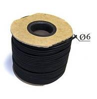 Резиновый шнур жгут для крепления и натяжки тента, на прицеп, кузов 6мм