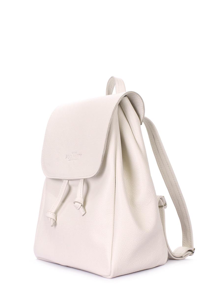 87f5bd8cc98e Рюкзак жіночий шкіряний бежевий / Рюкзак кожаный женский бежевый на  завязках Poolparty Paris Beige - abaz