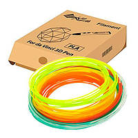Пластик для 3D-принтера XYZprinting PLA 6 кольорів (RFPLDXTW00H)