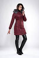 Зимняя женская молодежная куртка. Код К-132-36-19. Цвет бордо.