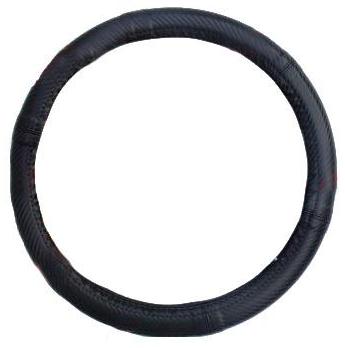 """Чехол на руль Elegant Maxi кожа """"премиум""""  карбон черний размер M 37-38 см  EL 105 232"""