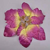 Пуансетия фиолетовая  20 см Новогодний декор