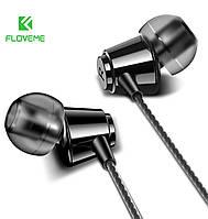 Наушники-вкладыши Floveme проводные HiFi Stereo 3,5 mm с микрофоном (черный)