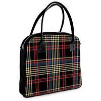 Женская сумочка Oxford Плед 32х30х9 см (OXF_FM006_BL)