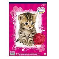 Альбом для рисования Herlitz A3 30 листов 70г Pretty Pets Cat (10088391C)
