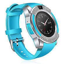 Часы Smart Watch Phone V8 Голубые (8805)