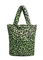 Дута жіноча сумка чорна зелена зайчата Poolparty 61 Green Rabbits