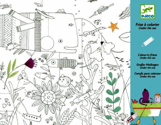 Художній комплект для малювання Djeco Підводний світ (DJ09646)