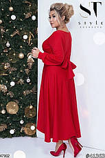 Нарядное вечернее платье красное размеры: 48-50,50-52, фото 2