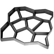 Форма пластиковая для садовых дорожек Садовая дорожка 60х60 см (nri-2066)
