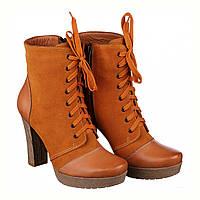 85e3a7ed9 Ботинки на шпильке из черной замши с лаковой вставкой и молнией ...