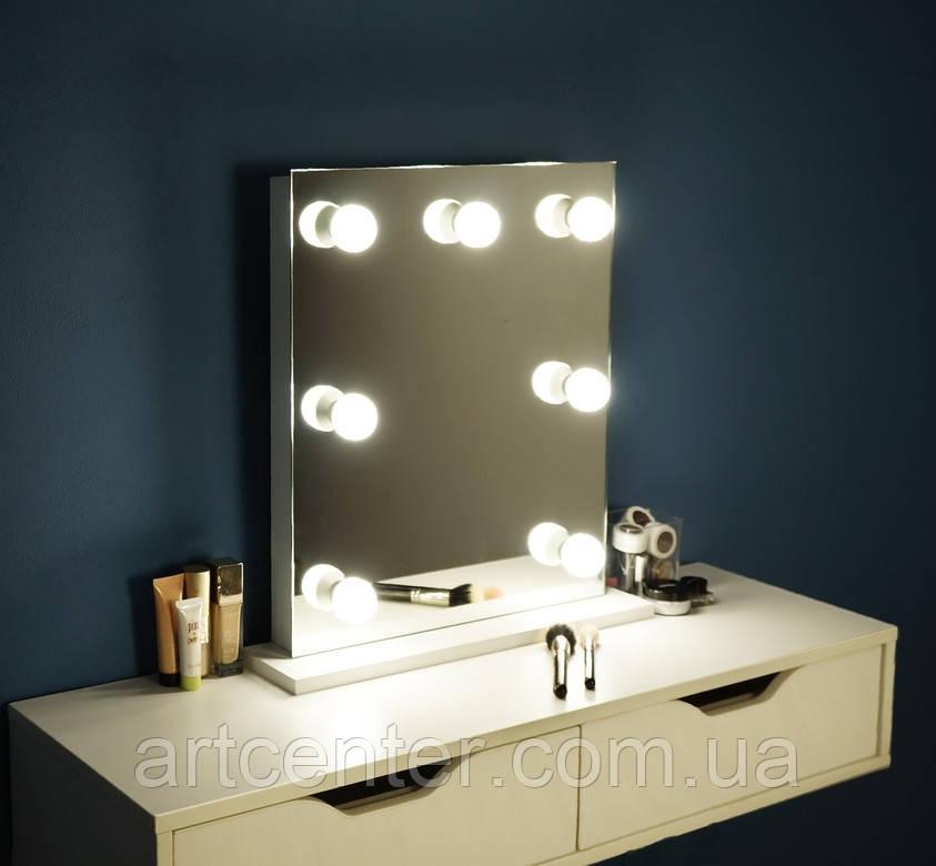 Навесной визажный стол, туалетный стол с зеркалом