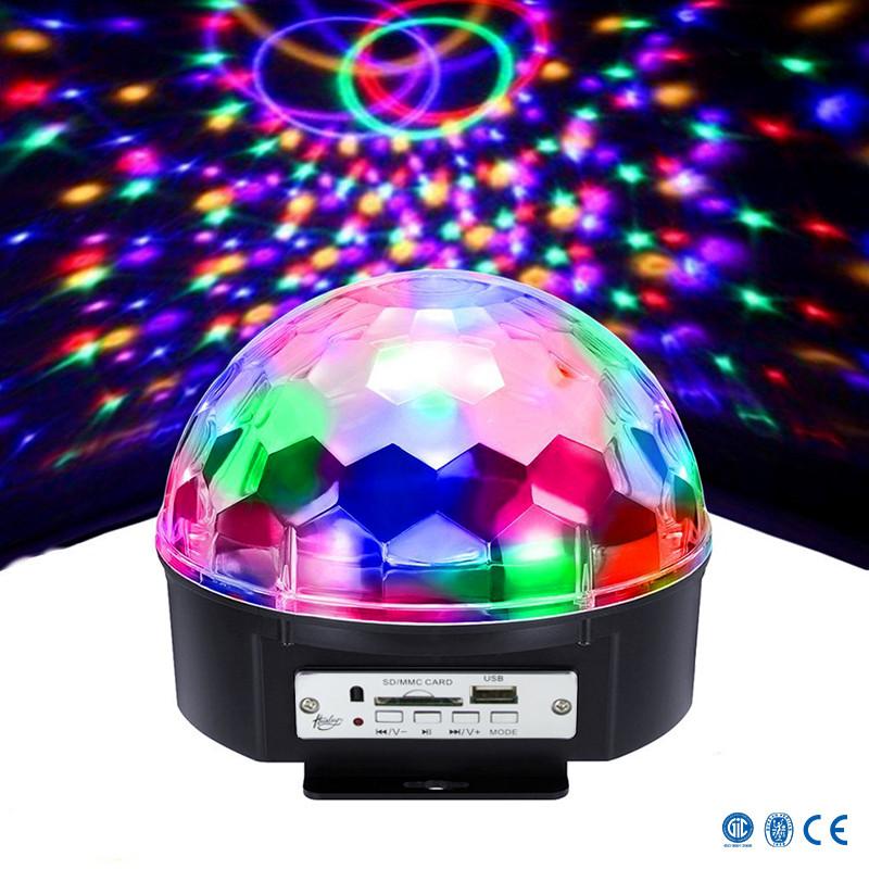 Диско шар с динамиками LED BALL LAMP Светомузыка с MP3 плеером и Bluetooth
