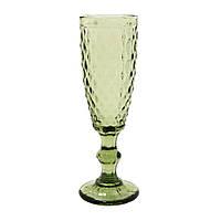 """Набор бокалов 6 шт для шампанского """"Изумруд 2"""" зеленых 150 мл, 34215-12-1"""