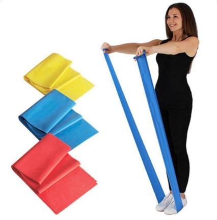 Резинка эластичная для фитнеса и йоги Profi - MS - 1672 голубая