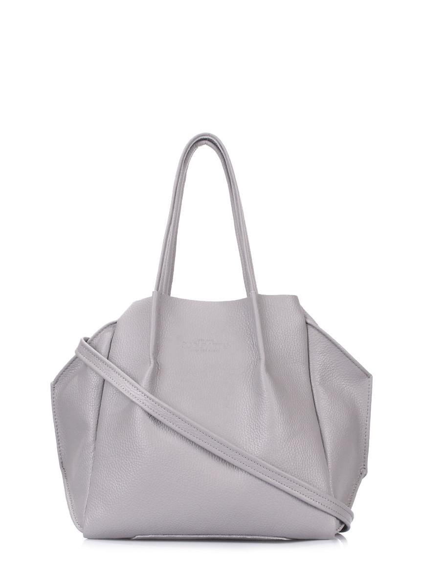 Сіра шкіряна жіноча сумка   Кожаная женская сумка серая Poolparty Soho  Remix Grey - Жіночі сумки 29e03d43a3d25