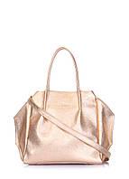 41943233d36d Сумка шкіряна жіноча золота / Кожаная женская сумка золотая Poolparty Soho  Remix Gold