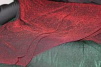 Диско. красный. Ткань трикотаж люрекс сплошной. мягкая стрейч, фото 1