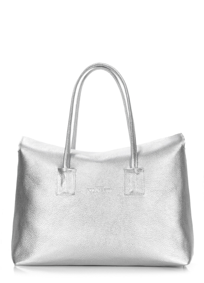 Сумка шкіряна жіноча срібляста   Кожаная женская сумка Poolparty Sense  Silver - Сумки 6bda96d96e49f