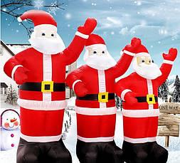 Надувной Дед Мороз Новогодняя скульптура с led подсветкой  Высота 5 м., фото 2