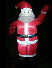 Надувной Дед Мороз Новогодняя скульптура с led подсветкой  Высота 5 м., фото 3