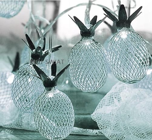 Новогодняя гирлянда, Ананасы Серебряный, 4 Метра цвет белый холодный, фото 2