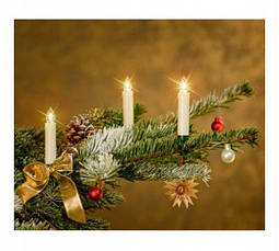 Новогодняя гирлянда свеча с клипсами на елку 15 шт. Беспроводные, фото 3